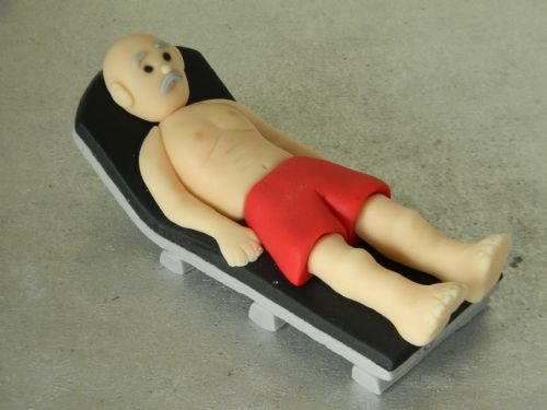 Man on Sunlounger Cake Topper